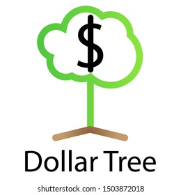 tree of dolar logo, simple logo, compatible for any company