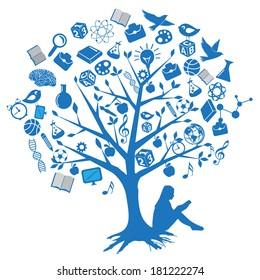 Tree education designs with symbols