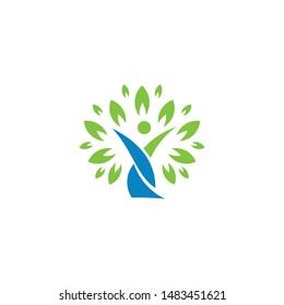 Tree Family Logo Design Illustration,eps 10