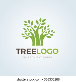 Tree, Family logo template