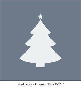 �¡hristmas tree flat icon