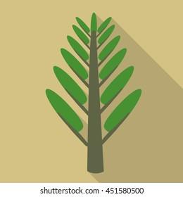 Tree flat icon illustration isolated vector sign symbol