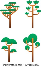 tree flatdesign caracter, recomended for you who like design about mountain and etc