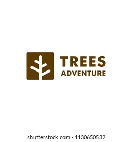 Tree Forest Logo Design Vector Symbol Outdoor