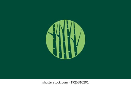 tree or forest shape in green circle logo design vector icon symbol illustration
