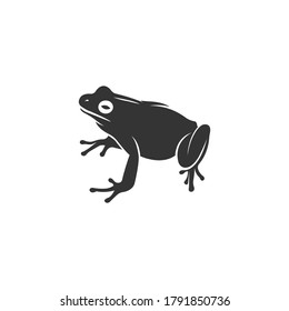Tree frog silhouette vector on a white background