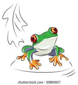 Tree frog - vector cartoon