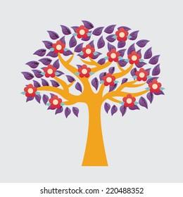 tree graphic design , vector illustration