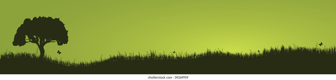 tree and grass landscape