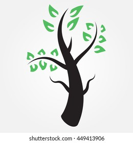 Tree green leafs vector icon design modern
