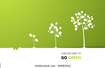 Tree growth eco concept design, vector