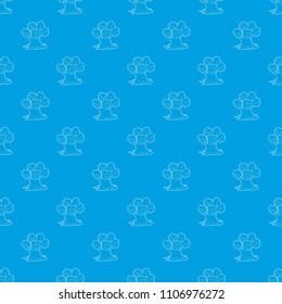 Tree house con. Outline illustration of tree house vector pattern vector seamless blue repeat for any use