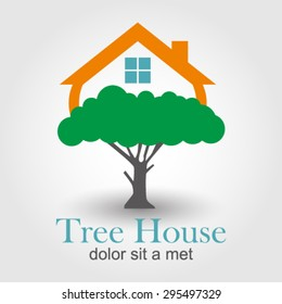 Tree House logo element innovative and creative inspiration for business company.
