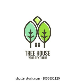 tree house and regency logo concept
