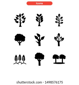 tree icon isolated sign symbol vector illustration - Collection of high quality black style vector icons
