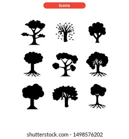 tree icon isolated sign symbol vector illustration - Collection of high quality black style vector icons\n