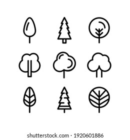 tree icon or logo isolated sign symbol vector illustration - Collection of high quality black style vector icons