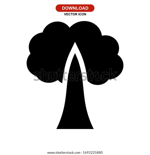 tree icon or logo isolated sign symbol vector illustration - high quality black style vector icons