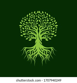 Tree icon logo vector icon design