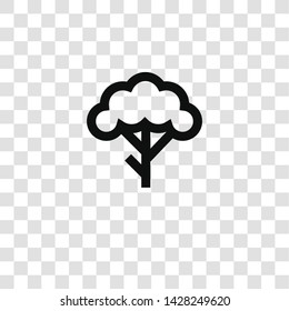 tree icon from miscellaneous collection for mobile concept and web apps icon. Transparent outline, thin line tree icon for website design and mobile, app development