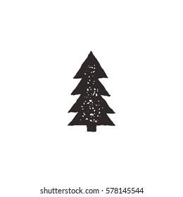 tree icon retro