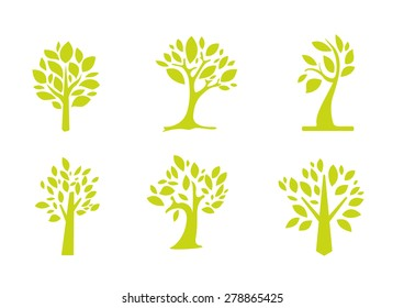 tree icon set for logo