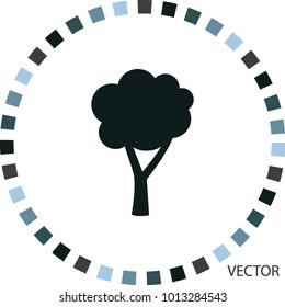 Tree icon, vector design element