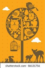 tree illustration/vector