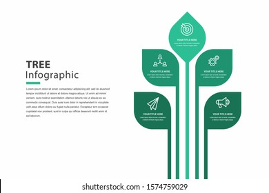 tree infographic, graph for steps to reach the goal, template vector eps 10.
