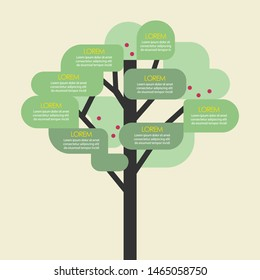 Tree infographic template. Vector illustration