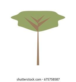 Tree isolated symbol