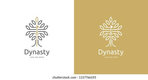 Tree Key Real Estate Logo Design