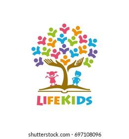 Tree Kids Logo playful template