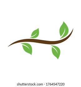 Tree leaf ecology nature element vector template