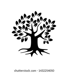 tree and leaves icons vector illustration