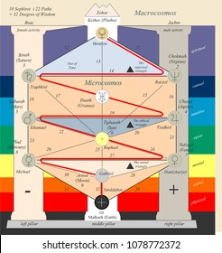 the tree of life  from Kabbalah for meditation and temple symbol
