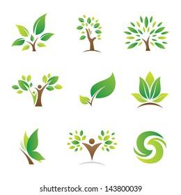 Tree of life nature logo symbol and icon