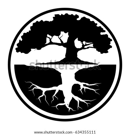 Tree Life Tattoo Art Geometrical Style Stock Vector Royalty Free