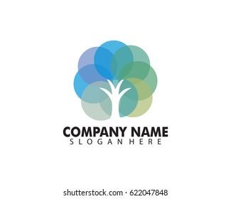 Tree Logo abstract design vector template