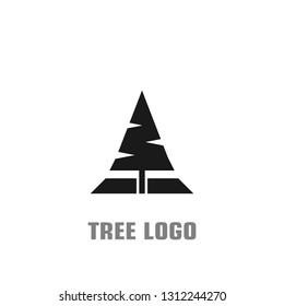 Tree logo design, simple tree logo flat design, vector icons.