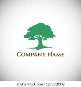 Tree logo design template. Vector illustration