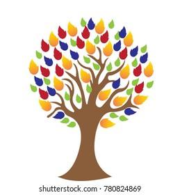 Tree logo design template.Vector