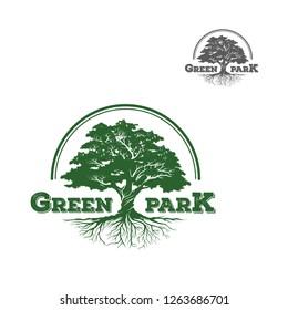 tree logo, design, vector