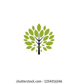 Tree logo icon isolated on white background
