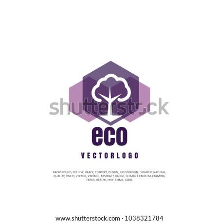 Tree Logo, Organic Garden, Gardening Company Sign, Silhouette Of Object.  Vector Illustration