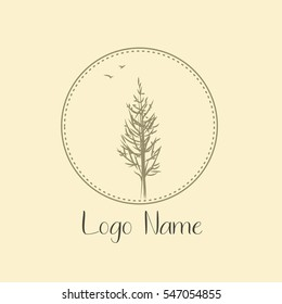 Tree logo for photografer nature. Icon ecology and bio design elements