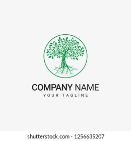 Tree Logo Template can be use for general company