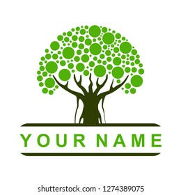 tree logo vector template