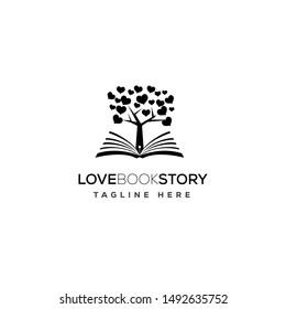 Tree Love Book Story Logo