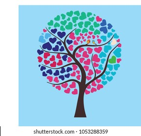Tree with love sign Wedding Guest Book ideas